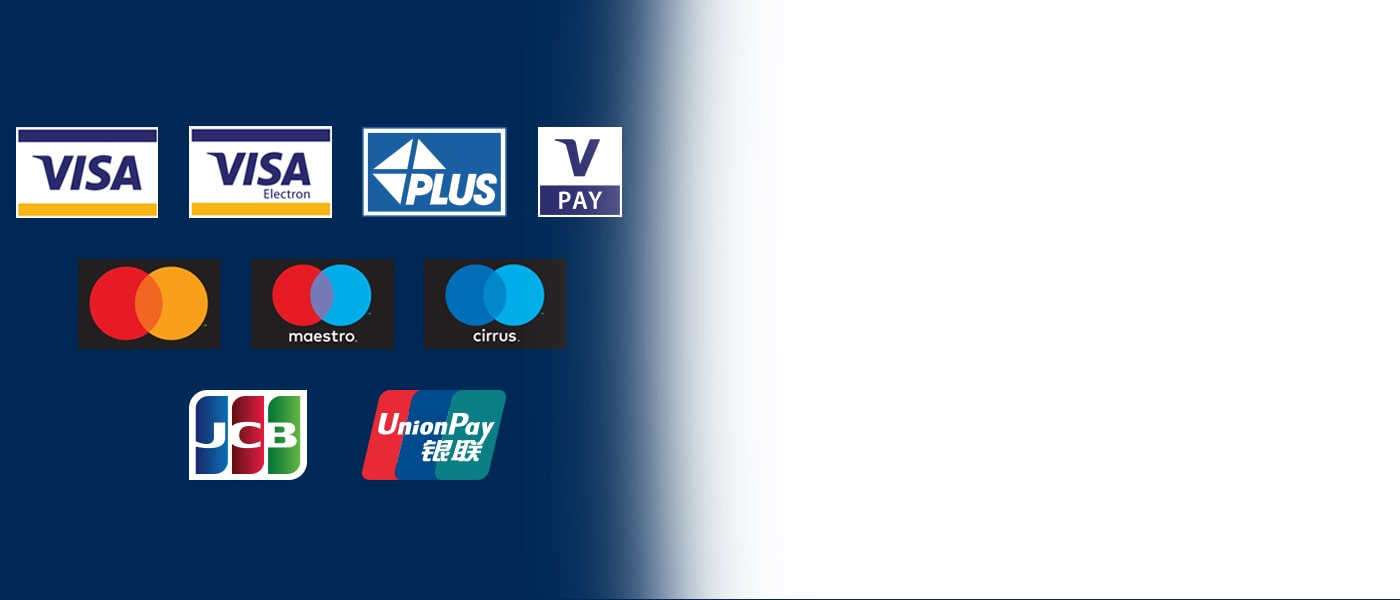 Les distributeurs automatiques Euronet acceptent toutes les cartes principales